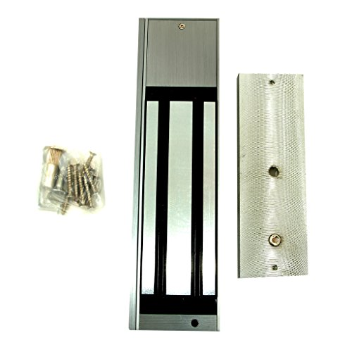 DX Series 1200lb (600kg) Holding Force ElectroMagnetic Lock With Delay and LED Door Sensor (1200 Series Magnetic Locks)