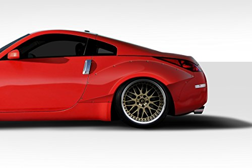Rear Nissan Fender - Duraflex ED-BYV-832 90mm Circuit Rear Fender Flares - 2 Piece Body Kit - Compatible For Nissan 350Z 2003-2008