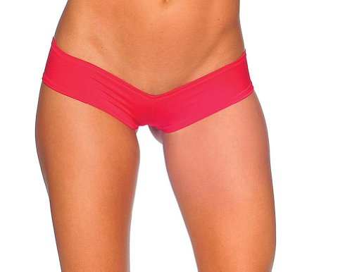 Exotica Fabric (BodyZone Women's Super Micro Panty, Red, One Size)