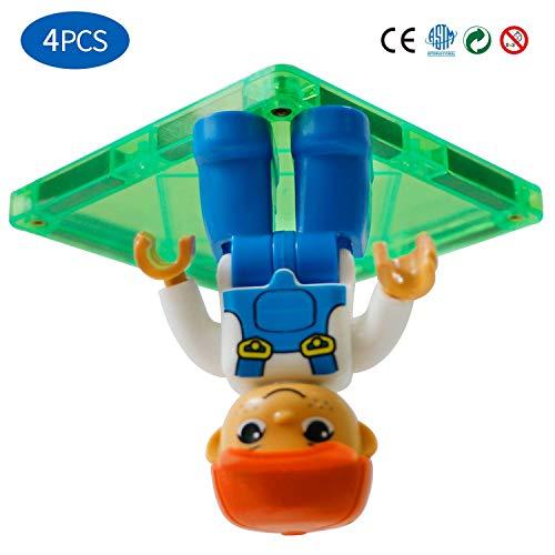 Magnetic Community Figures Set of 4 – Toy People Magnetic Tiles Expansion Pack for Police,Worker, Nurse, Fireman for Educational STEM Toddler Toys Add on Sets for Magnetic Blocks