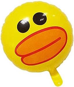 5 قطع بالونات من الرقائق المعدنية على شكل حيوان كرتون بطة صفراء لطيفة من الألومنيوم على شكل حيوانات لعب بالون للأطفال في عيد ميلاد طفل هدية ديكور غرفة المنزل