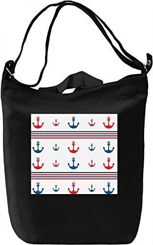 Anchor Print Borsa Giornaliera Canvas Canvas Day Bag| 100% Premium Cotton Canvas| DTG Printing|