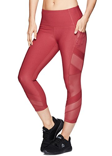 RBX Active Women's Workout Gym Yoga Athletic Leggings Red Multi Combo L by RBX