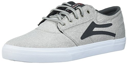 Lakai Men's Griffin Skate Shoe, White Denim, 9.5 M US