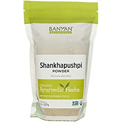 Banyan Botanicals Shankhapushpi Powder - USDA Organic, 1/2 lb - Evolvus alsinoides - Ayurvedic Herbal Powder for a Healthy Mind*