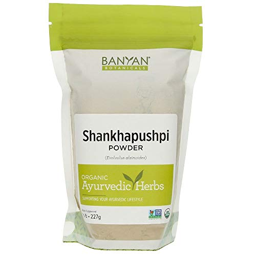Banyan Botanicals Shankhapushpi Powder - Certified Organic, 1/2 Pound - Evolvulus alsinoides - Supports a healthy nervous system and optimal brain function*