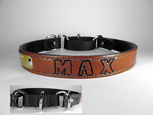 Personalized Standard Size Martingale Light Brown Leather for sale  Delivered anywhere in USA