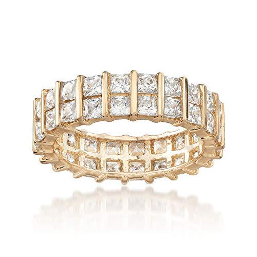 Ross-Simons 4.60 ct. t.w. Princess-Cut Eternity Band in 14kt Yellow Gold ()