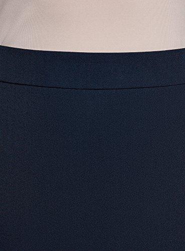 Collection Droite Jupe Bleu Coupe Basique 7900n Femme oodji wqndSgzw
