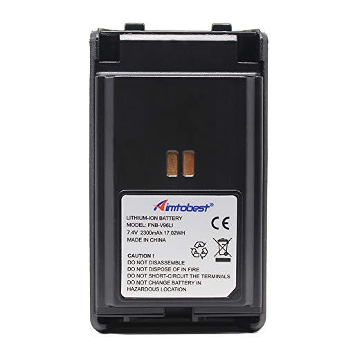 FNB-V96Li FNB-V96 2300mAh Li-ion Battery Compatible for Yaesu Vertex VX-350 VX-351 VX-354 VX-359 VX350 VX351 VX354 VX359 Two Way Radio ()