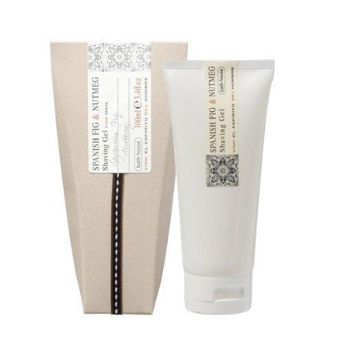Spanish Fig & Nutmeg Shaving Gel for Men By Bath House, 3.4 Oz (100ml) by Bath House ()