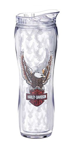 (Harley-Davidson Insulated Curved Travel Cup, Bar & Shield Eagle, 16 oz.)