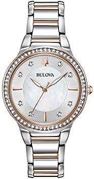 Bulova 98L258 Women's Two-Tone Crystal Watch