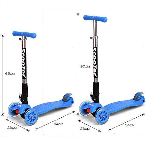 Dolami Twist & Roll Patineta de 3 ruedas para niños con luz LED freestyle mini scooter,Rosado/Azul/Graffiti(3-10 años, Máxima carga: 60 kg) + Set ...