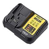 Ljnuanrg 12-20V Li-ion Battery Charger Replacement Power Tool Battery Charger for Dewalt DCB112 (US Regulations)