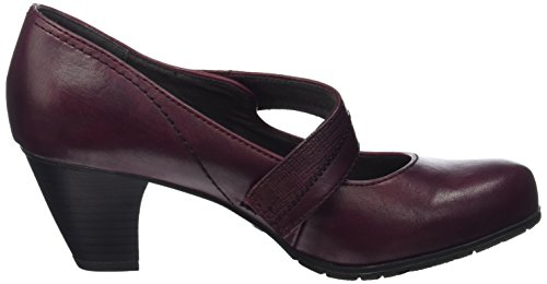 Softline Tacco Bordeaux con Donna Scarpe 24460 Rosso qPtYrPw