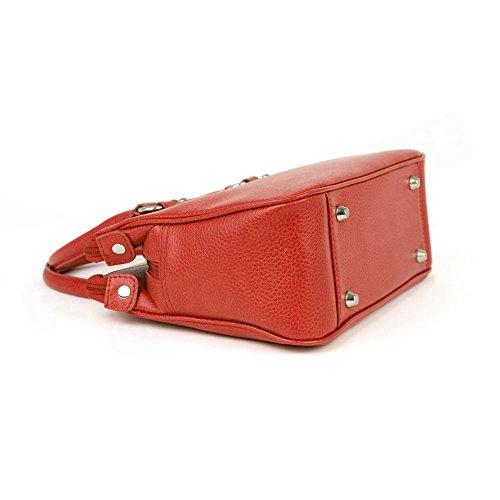 Mini sac Cabas Monaco cuir Rouge Beaubourg