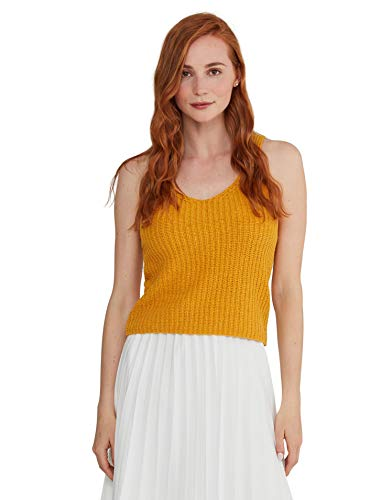 State Cashmere Women's Tape Yarn Tank Sweater