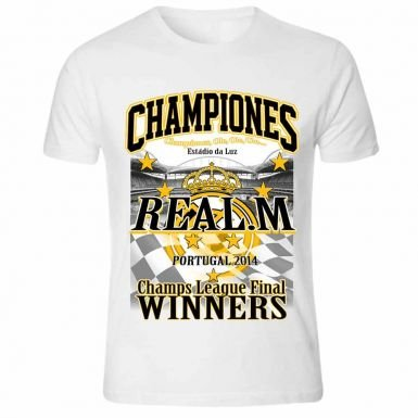 779b1cec665 Image Unavailable. Image not available for. Color  Real Madrid 2014 Champions  League Winners T-Shirt