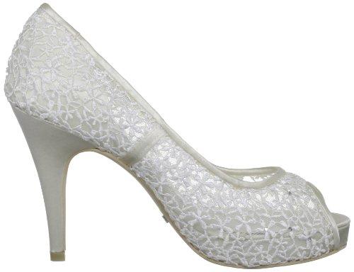de Menbur de Halti Wedding mujer Ivory malla Zapatos Blanco boda wtXvX1rq
