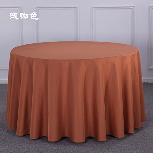 Table Cloth Thickening Hotels Round Tables Tablecloths Restaurants Restaurants Cloth Solid Color Conference White Wedding Wedding Circle,Light Coffee,Or Sizes Customized ()