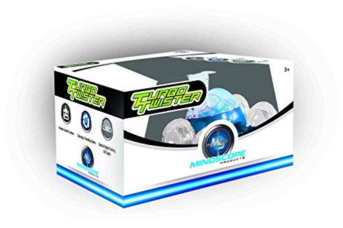 Rc Stunt Vehicle (Mindscope Turbo Twisters BLUE 49 MHZ Bright LED Light Up Stunt RC Remote Control Vehicle)