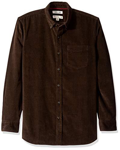 Goodthreads Men's Standard-Fit Long-Sleeve Corduroy Shirt, -dark brown, XXX-Large