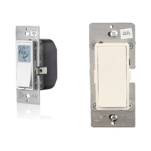 rammable Indoor Timer with Astronomical Clock with Leviton, Vizia + Digital Coordinating Remote Switch, 3-Way or more applications (Leviton Wall Timer)