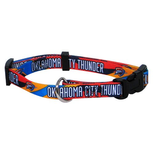 NBA Oklahoma City Thunder Adjustable Pet Collar, Team Color, Medium