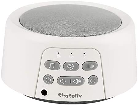 Skatolly Sleep Sound Machine, White Noise Machine White Noise Sound Machine with 24 High Fidelity Sounds, Mini White Noise Machine Portable, Soft White Noise Machine Suitable for Kids and Adults