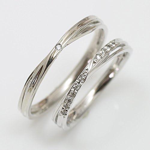 ペアリング シルバー ダイヤモンド リング Silver マリッジリング 2本セット 結婚指輪 日本製 天然 ダイヤ