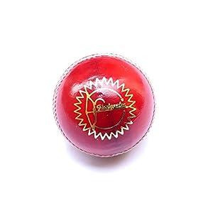 Cricket Ball | Leather | Red | Test Grade | Ikshvaku Cricket Balls