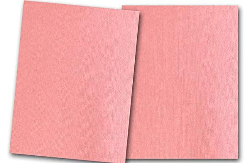 (Premium Pearlized Metallic Textured Strawberry Cream Pink Card Stock 20 Sheets - Matches Martha Stewart Strawberry Cream - Great for Scrapbooking, Crafts, Flat Cards, DIY Projects, Etc. (8.5 x 11))