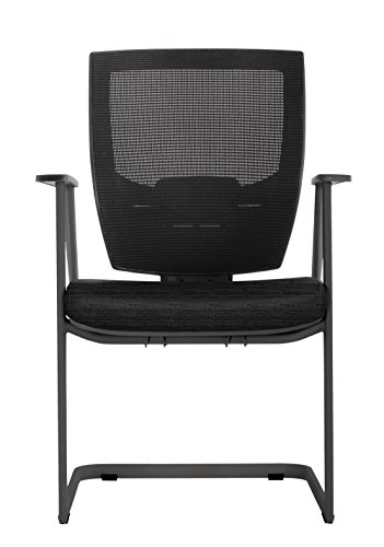 - Set of 2 Cantilever Guest Chair with Memory Foam Patterned Fabric Seat Dimensions: 23.25