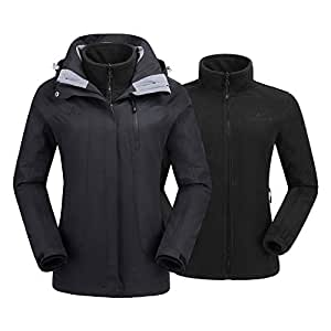 Amazon.com : CAMEL CROWN Women's Ski Waterproof Jacket