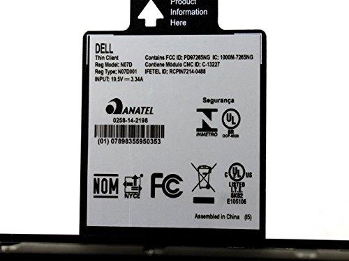 Dell Wyse N07D 5060 Quad-Core AMD GX-424CC 2.4 GHz 4GB DDR3 SDRAM 8GB SSD Radeon R5 Graphics Gigabit Ethernet RJ-45 THINOS 8.3 Thin Client H0C1T-SP-TTT by Dell (Image #4)