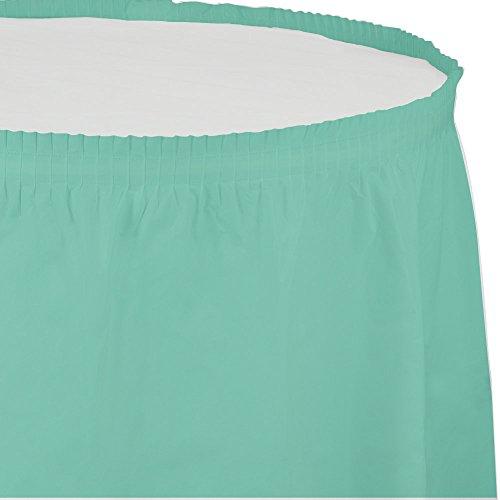 Creative Converting 318892 Festive Fresh Mint Plastic Table Skirt, 14' X 29