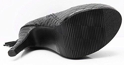 Stivali Tassel Donne YCMDM S 'eccellente impermeabile e comoda di alta Stivali , black , 35