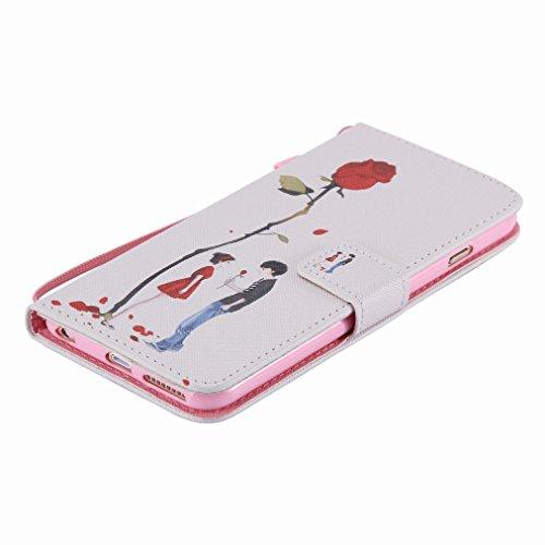 Custodia Apple iphont 6 6s (4.7) Cover Case, Ougger Girl Style Portafoglio PU Pelle Magnetico Stand Morbido Silicone Flip Bumper Protettivo Gomma Shell Borsa Custodie con Slot per Schede Moda Design 1