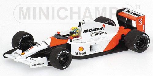 1/43 マクラーレン ホンダ MP4/6 91年ドイツGPワールドチャンピオン A.セナ Shell #1(ホワイト×オレンジ)  「アイルトン・セナ レーシングカーコレクション」 540914391