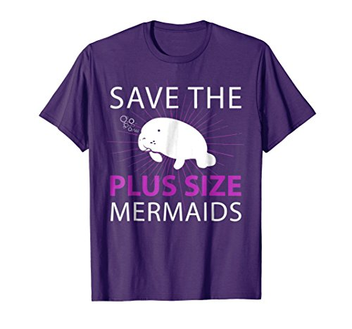Mens Manatee Apparel T-Shirt Save The Plus Size Mermaids Tee 2XL (Mermaid Costumes Plus Size)