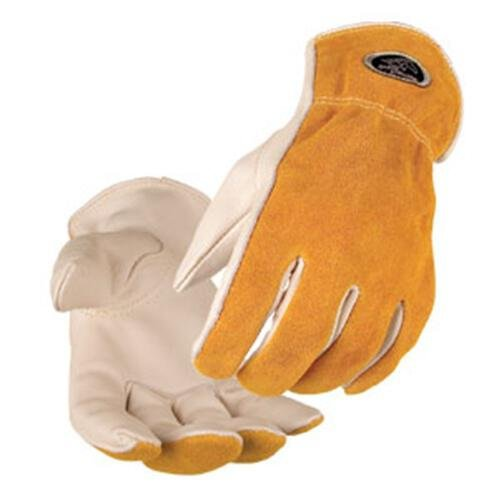 Black Stallion Value Grain/Split Cowhide Kevlar Stitched Driver's Gloves - ()