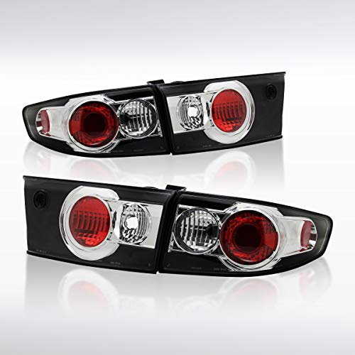 Autozensation For Honda Accord 4dr Black Altezza Tail Lights Rear Brake Lamps