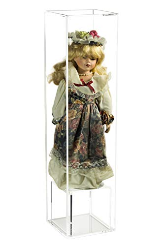 High Cube Box - Deluxe Clear Acrylic Figurine Display Case for Doll Bobblehead Action Figure or Collectible Toy Figure (A086-CB)