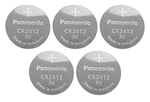 Panasonic CR2412 3V Lithium Battery 1PACK X (5PCS) =5 Single Use Batteries