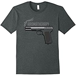 "Mens Trigger Happy's ""aromatherapy"" Gunsmoke T-Shirt 2XL Dark Heather"