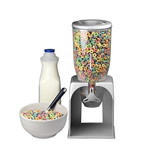 Home-Basics-Single-Cereal-Food-Dispenser-Silver