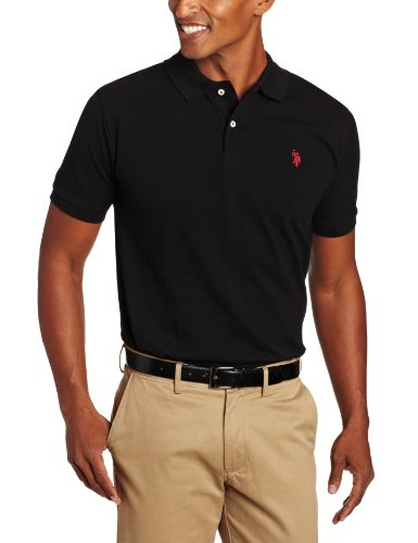 U.S. Polo Assn. Men's Classic Polo Shirt, Old Black, L