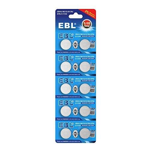 EBL AG13 Piles Bouton Longue Durée de Conservation AG13*10 lot de 1