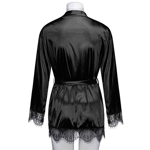 Negro Para Bata women Mujer Nightwear Giulogre qUXvn